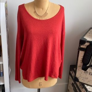 UO Project social T wide necked sweater.